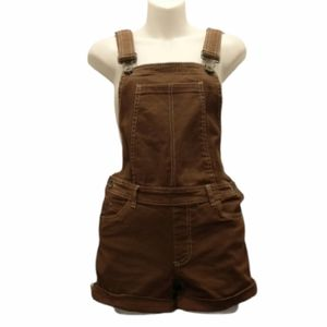 Jean Shorts Overalls Brown Juniors Size Small